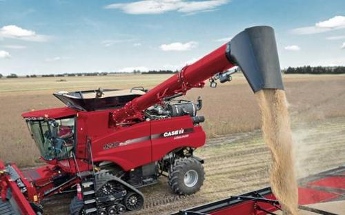 Axial-Flow 9240 Combine with Draper Header_0898_10-14_R1